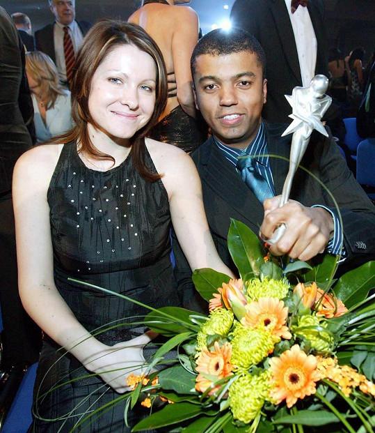 Koranteng s manželkou Monikou na archivním snímku