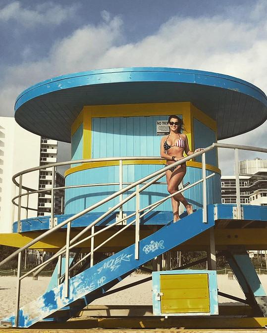 Veronika Farářová si užívá dovolenou v Miami.