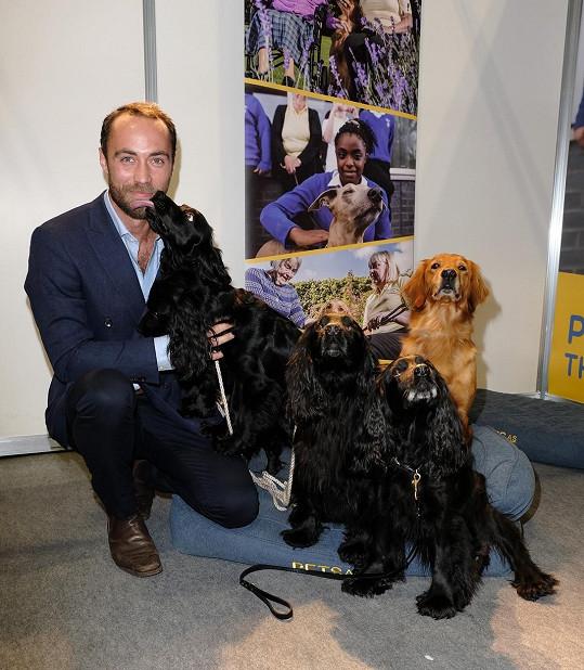 James Middleton je milovníkem psů.
