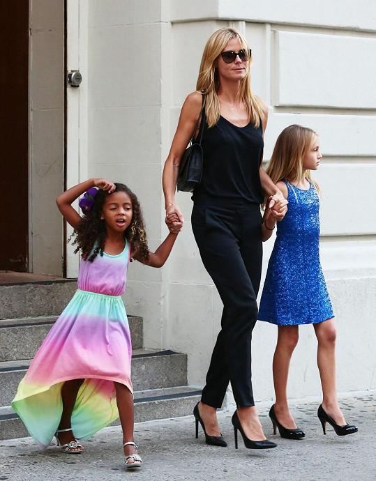 Z dcer Heidi Klum rostou malé modelky.