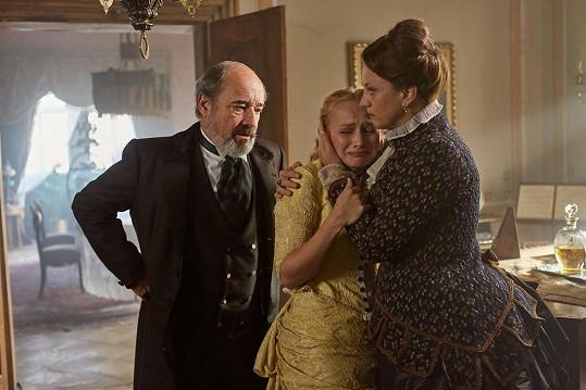 Dana Droppová s fimovými rodiči Viktorem Preissem a Évou Bandor.