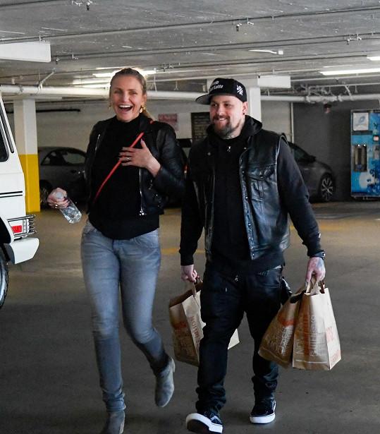 Diaz s manželem Benjim Maddenem