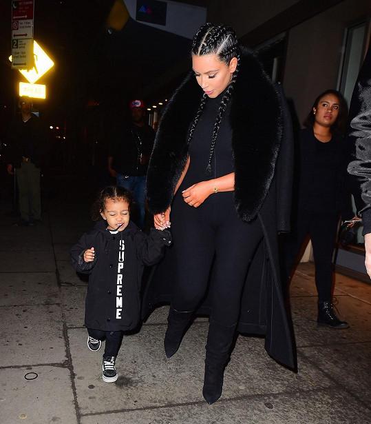 Kim vzala na večírek do New Yorku i dceru North.