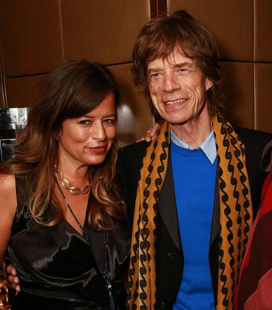 Jade s tátou Mickem Jaggerem