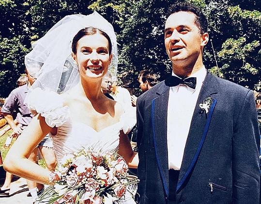 Martin a Daniela v den, kdy si před 25 lety řekli své ano.
