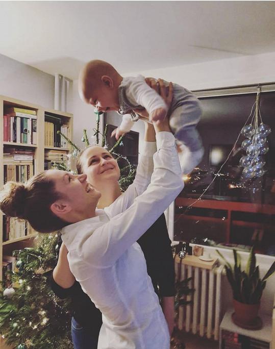 S partnerkou a synem Timíčkem o posledních Vánocích