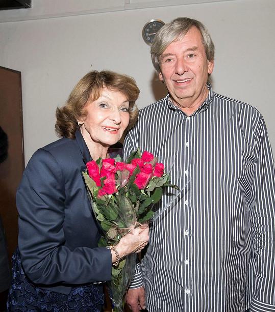 Simonová se synem Tomášem Spurným