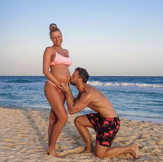 Jakub Kraus s manželkou Evou před dvěma měsíci na poslední zahraniční dovolené v Mexiku
