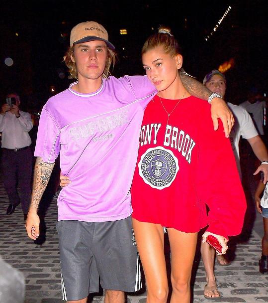 Bieber s manželkou Hailey Baldwin
