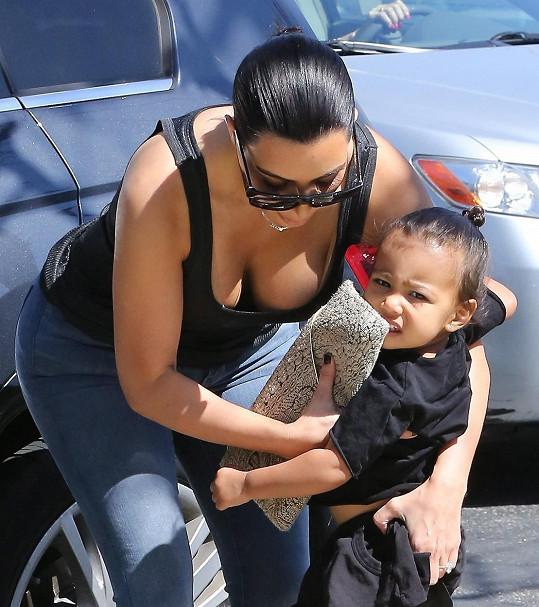Kim s dcerou North