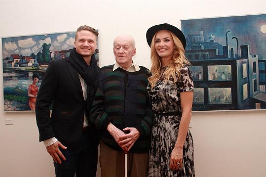 S přítelem Ondřejem Brzobohatým a malířem Ladislavem Macháčkem