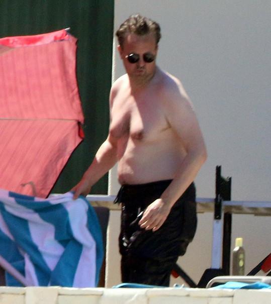 Matthew Perry na dovolené v Mexiku