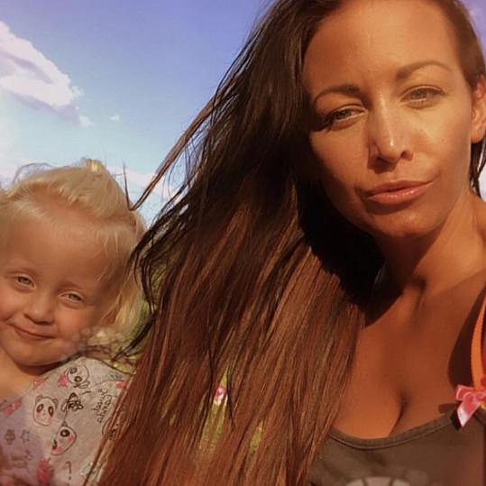 Agáta nafotila sérii selfie s dcerou Miou.