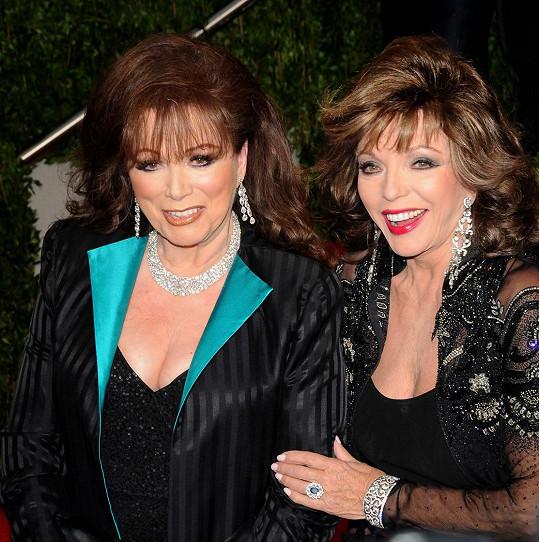 Jackie Collins se sestrou Joan na snímku z roku 2009