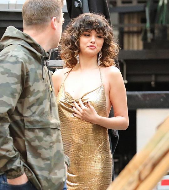 Selena Gomez natáčí nový videoklip.