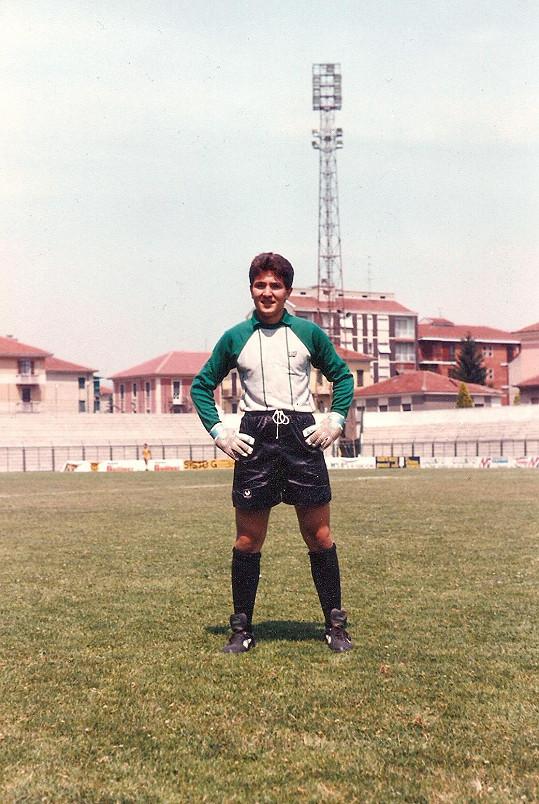 Andrea Andrei v roce 1990. Byl brankářem.