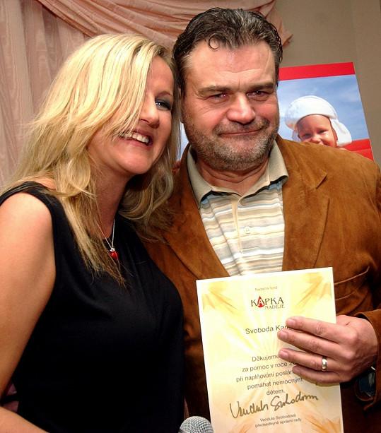 Karel Svoboda s manželkou Vendulou (2006)