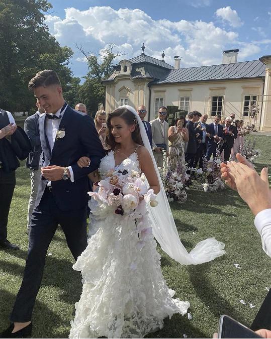 Patrik Schick s novomanželkou Hanou