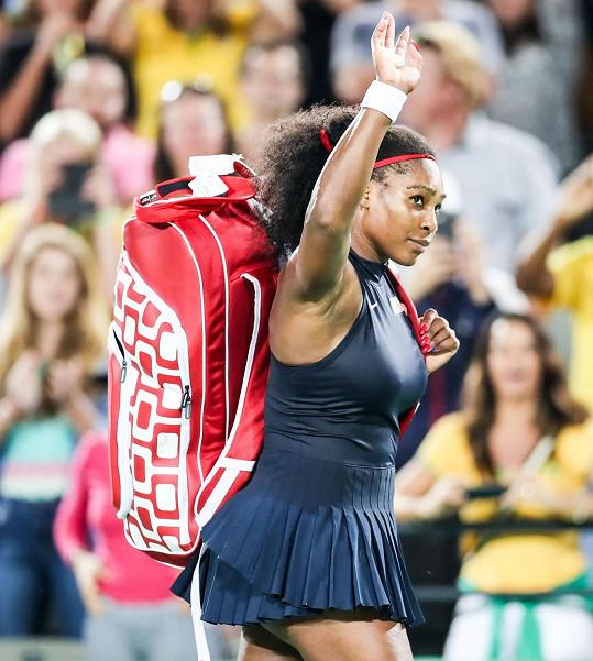 Serena po prohraném zápase na olympiádě v Riu