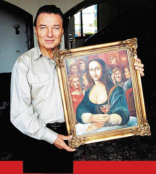 Karel Gott s obrazem, který v minulostu nechtěl prodávat.