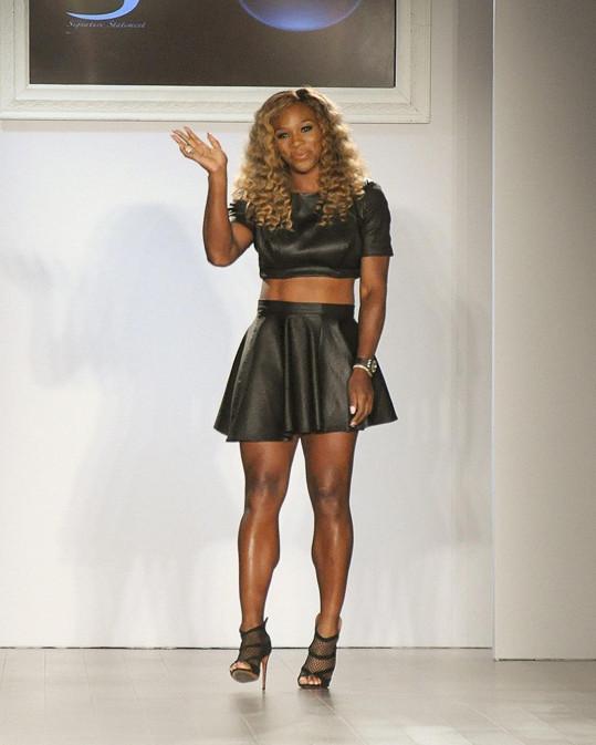 Serena Williams navrhla oblečení na jaro 2015.
