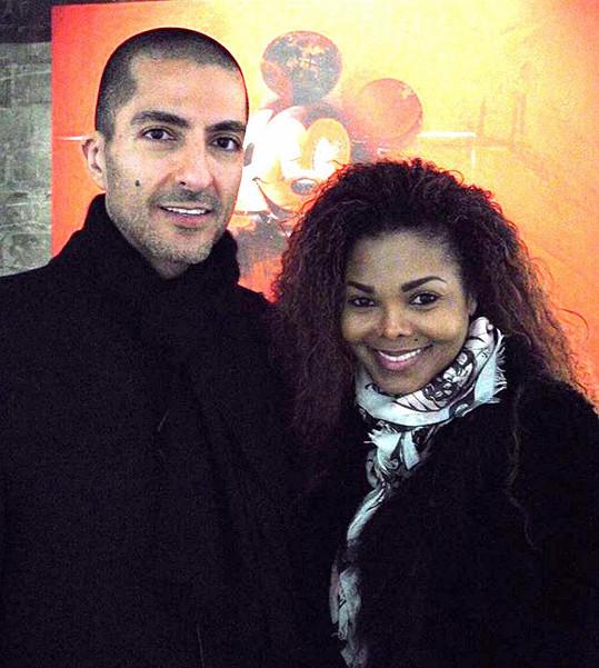 Janet Jackson s manželem Wissamem Al Manou