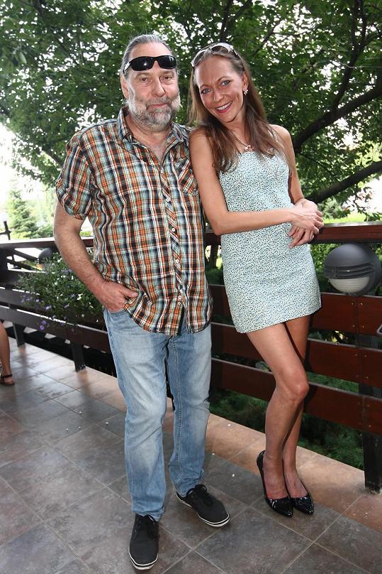Radek John s přítelkyní Markétou Zámyslickou