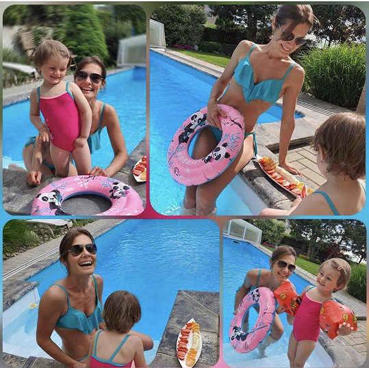 Jana Doleželová si užívá teplé dny u bazénu.