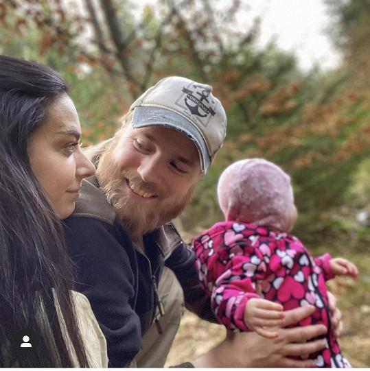 Marta s manželem a dcerou