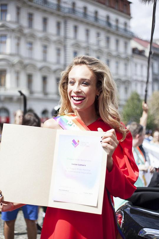 Titul Maršál Prague Pride 2018 získala Loiza Lamers za zahraniční vzor a inspiraci.