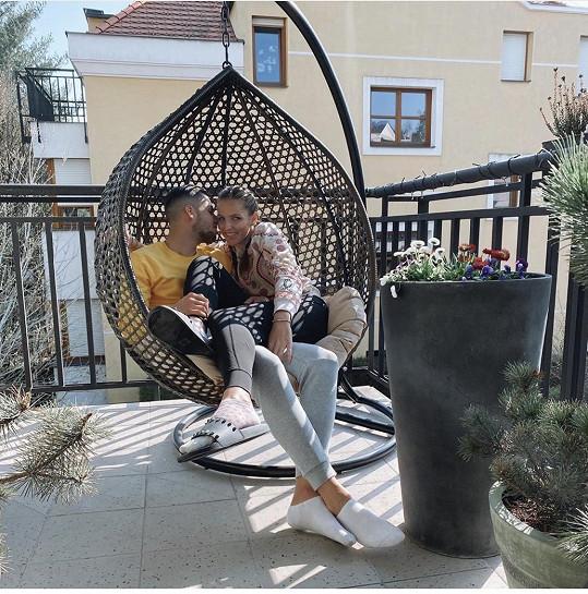 Kristýna Plíšková s přítelem Dávidem Hanckem