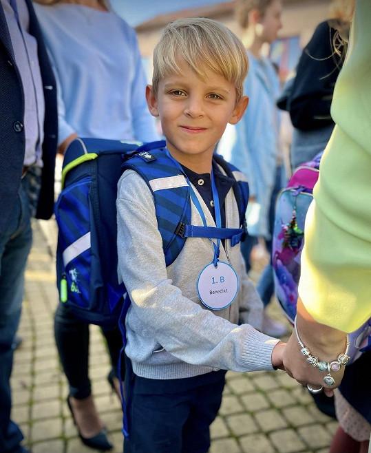 Benedikt šel poprvé do školy.