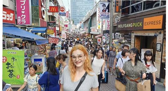 Iva Pazderková zahájila svoji dovolenou v japonském Tokiu.