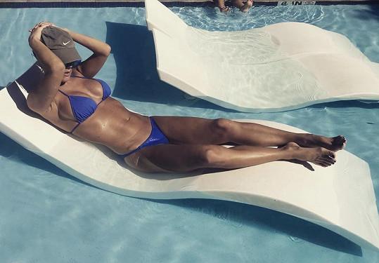 Hedvika Kollerová si užívá slunné Miami.