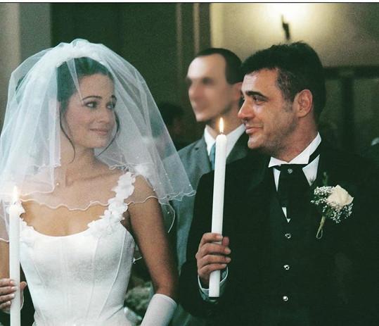 Klára před devatenácti lety ve svůj svatební den