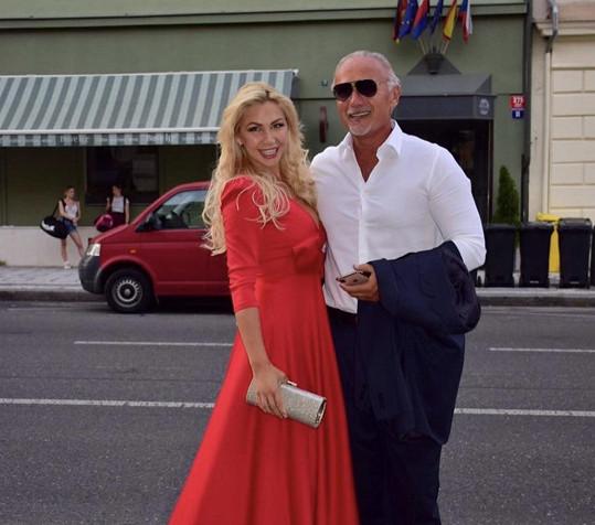 S bývalým partnerem Richardem Chladem