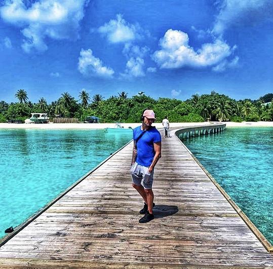 Sámer se podělil s fanoušky o snímky z rezortu, kde tráví pracovní výlet.