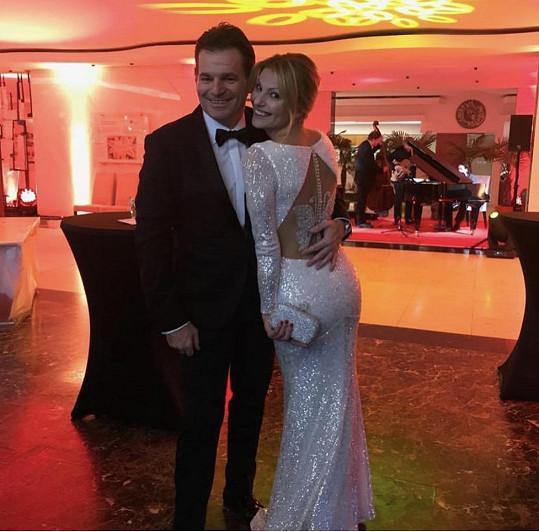 Jitka s manželem Tomášem Abrahamem
