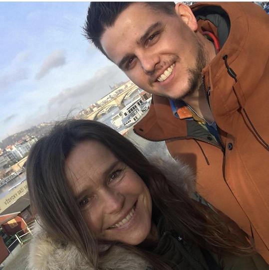 Šípková se synem Michalem