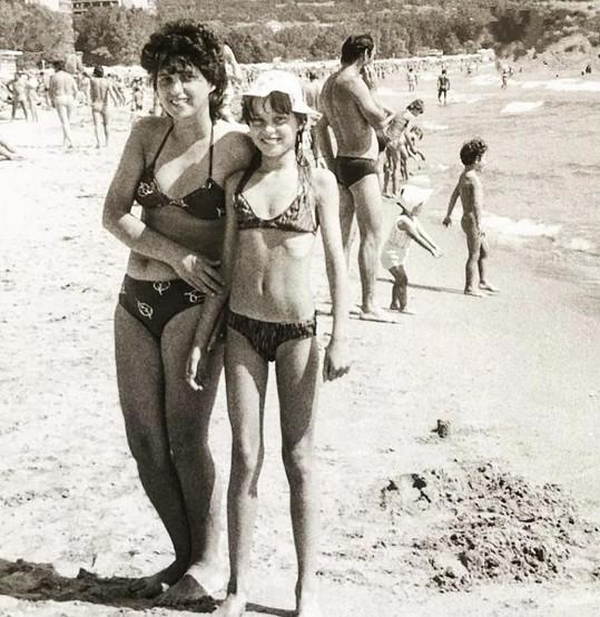 Simona Krainová s maminkou na fotce z roku 1983