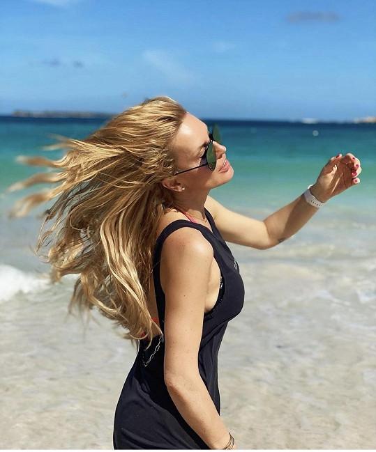Moře i pláž jsou nádherné. Prostě Karibik
