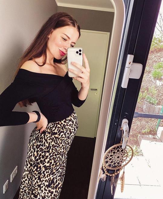Tereza Kadeřábková je v 6. měsíci těhotenství.