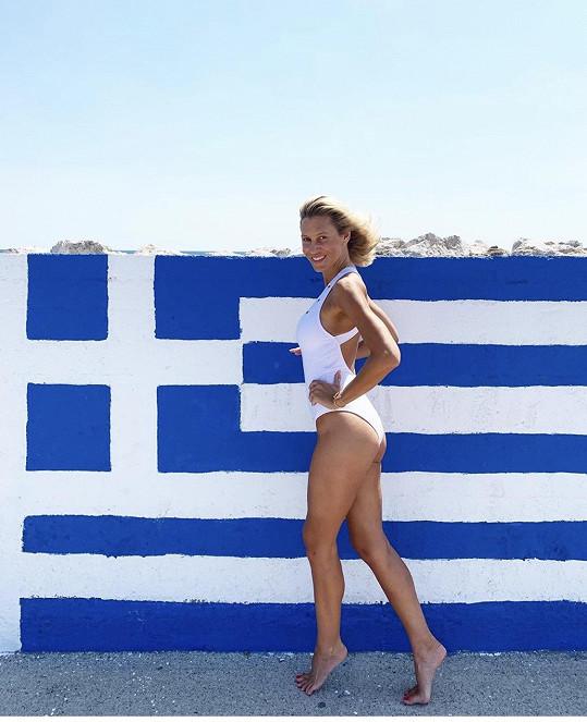 Kateřina Průšová trávila dovolenou v Řecku na Rhodosu.