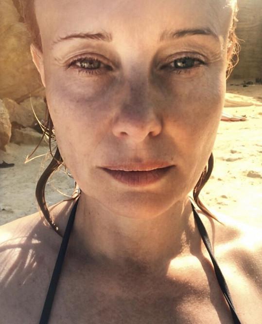 Touto fotkou z dovolené Jitka Schneiderová mile překvapila fanoušky.