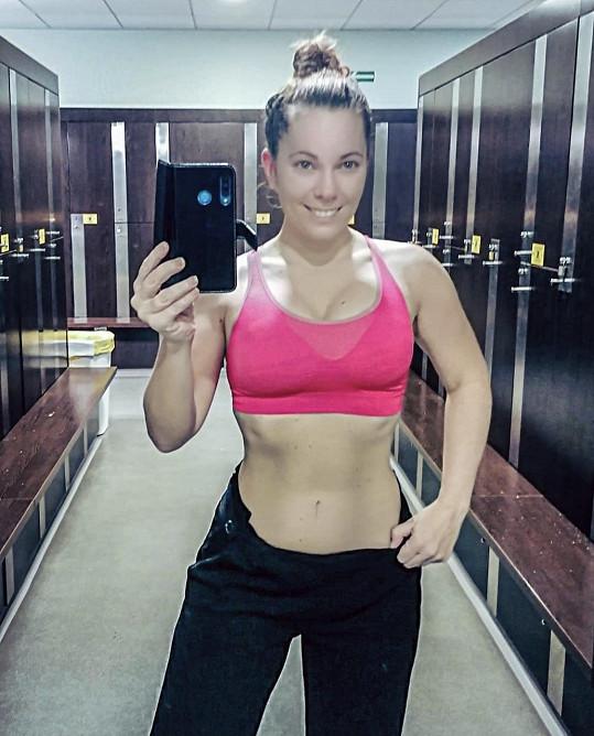 Michaela Nosková ukázala své vypracované břicho.