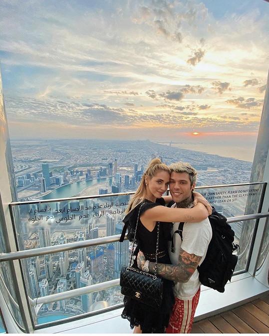 Módní ikona Chiara s manželem Fedezem.