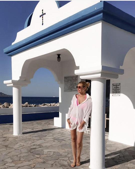 Na týden vyrazila na ostrov Rhodos.