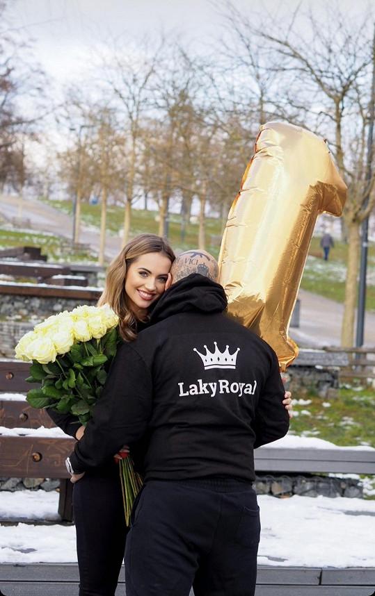 Natálka a Laky oslavili první výročí vztahu.