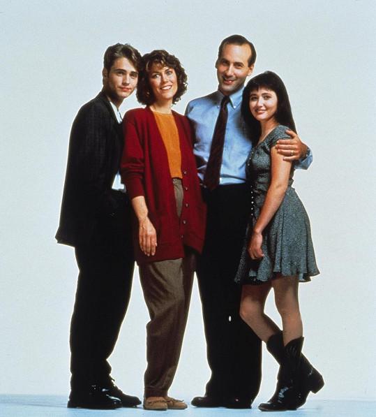Se svými seriálovými dítky a manželkou