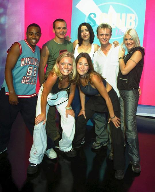 Paul Cattermole (druhý zleva) v době, kdy byla kapela S Club 7 na vrcholu slávy.